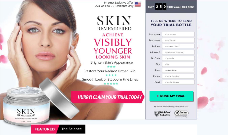 Skin Remembered Cream Reviews ® {UPDATE 2020} Scam or Legit?