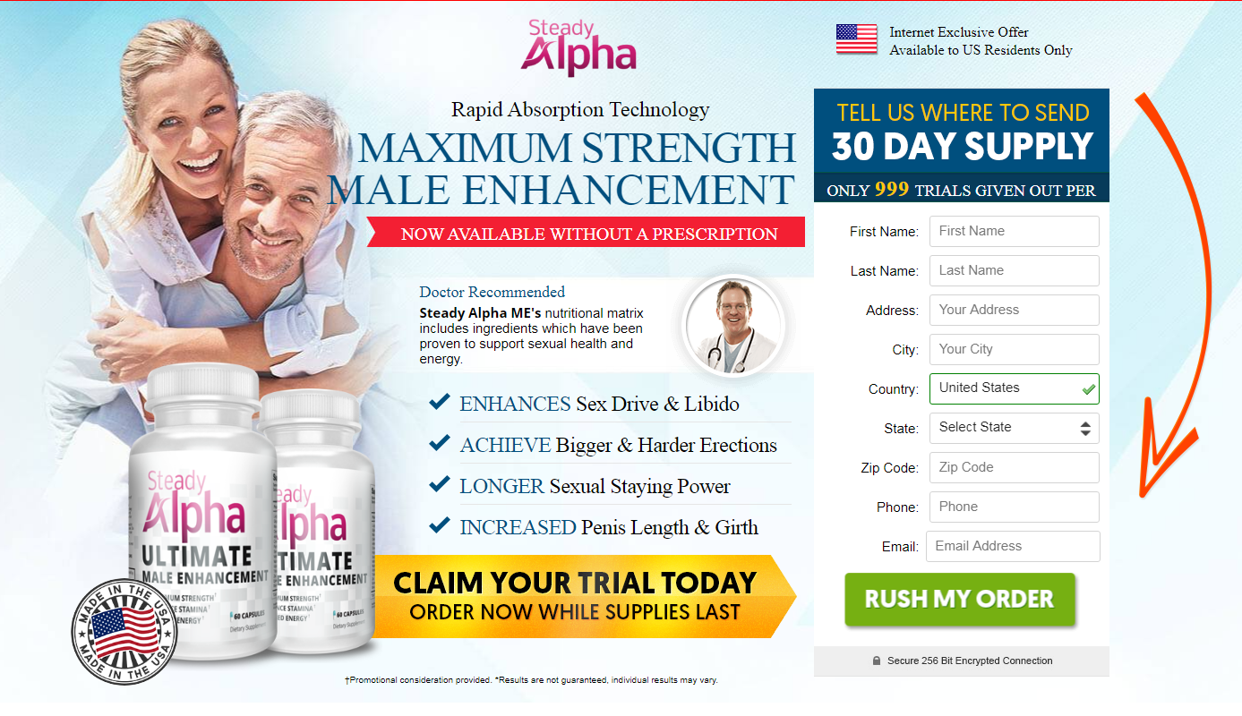 Steady Alpha Male Enhancement™ *Active 2020* Price, Scam, Reviews?