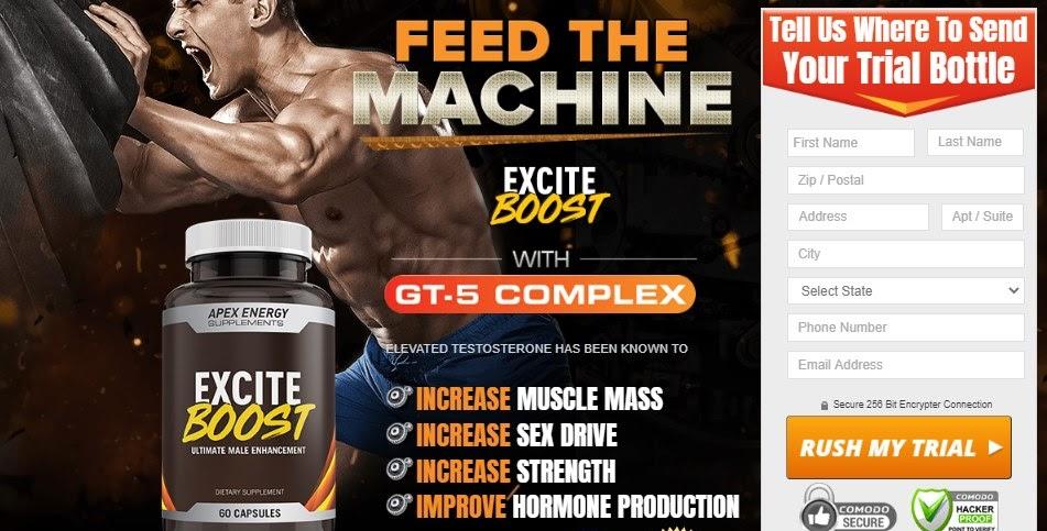 Excite Boost Male Enhancement ⚤ Build Muscle & Enhance Sex Drive!