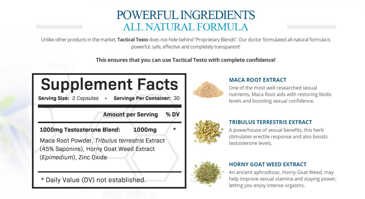 Tactical Testo Male Enhancement Pills | Revive Your Performance Naturally!