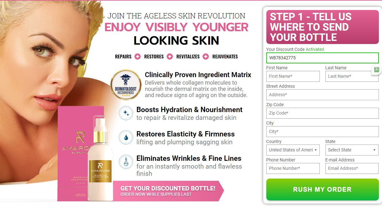 Amarose Boosting Moisturizer Get Youthful Skin Again With Beauty Cream!
